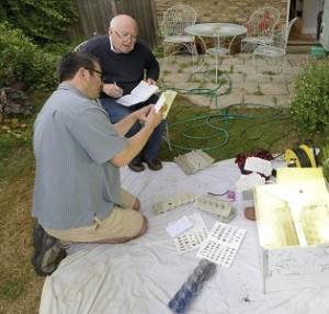 In de tuin met Mike McCarthy - foto Rollin Verlinde
