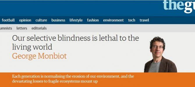 Opiniestuk in The Guardian: mottenvanger inspireert!